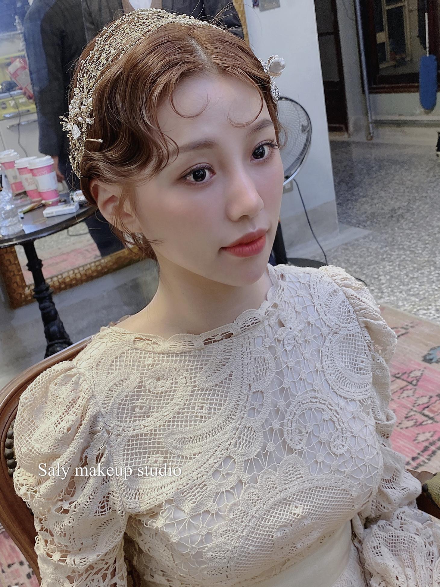 新竹新秘 新娘髮型 婚紗造型 中國風造型 攝影造型 輕婚紗