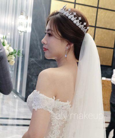 新竹新秘 白紗造型 婚禮造型 皇冠造型