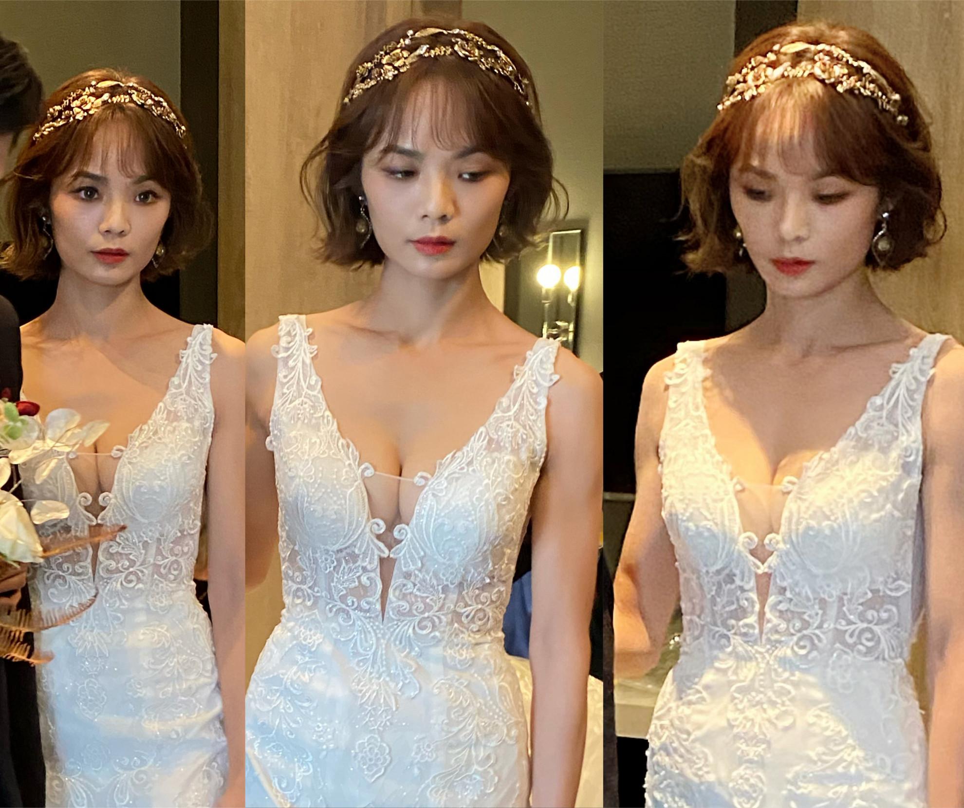 新竹新秘 新娘造型 白紗造型 短髮新娘
